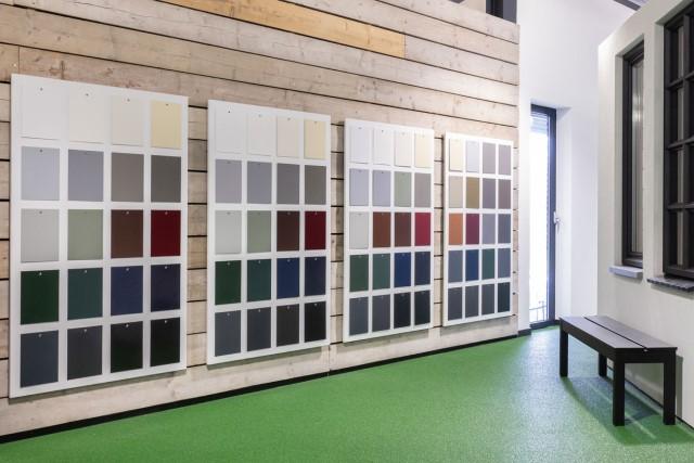 Aluminium vouwwanden kleuren